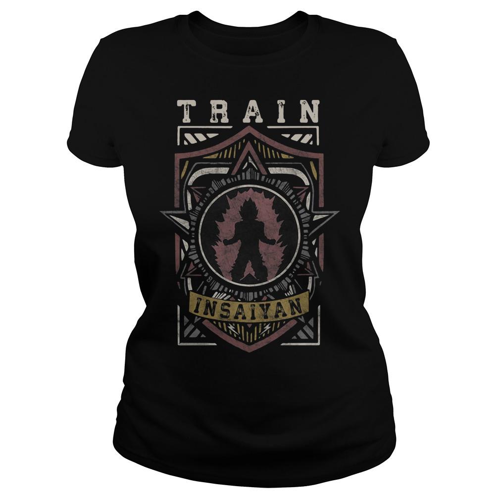 Train Insaiyan Warrior Shield Crest Ladies tee