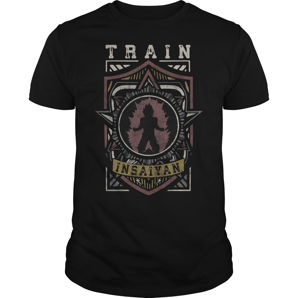 Train Insaiyan Warrior Shield Crest shirt