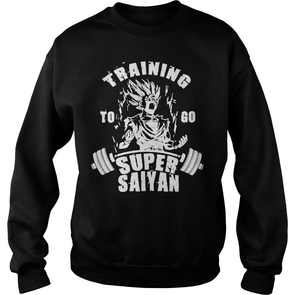 Training to go Super Saiyan Sweater