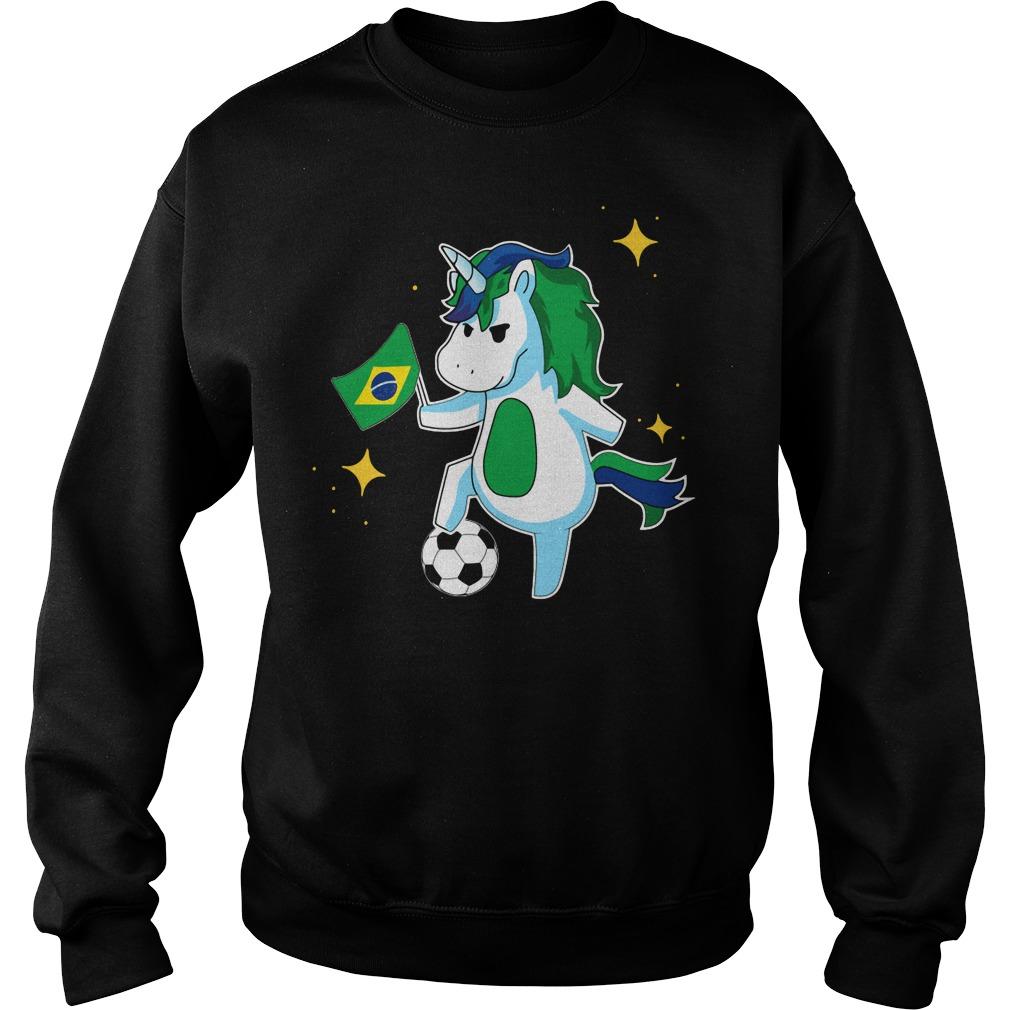 Unicorn Brazil football Sweater