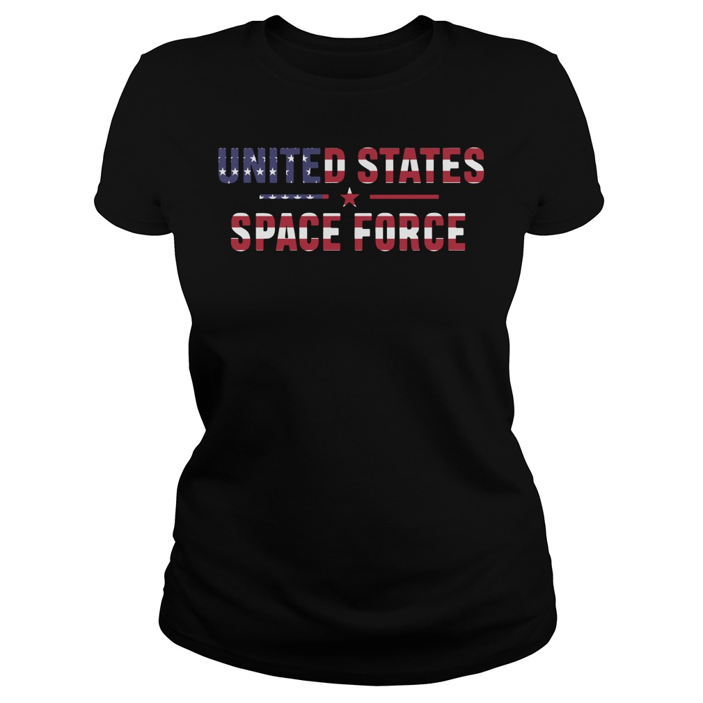 United states space force American Flag Independence Day Ladies tee