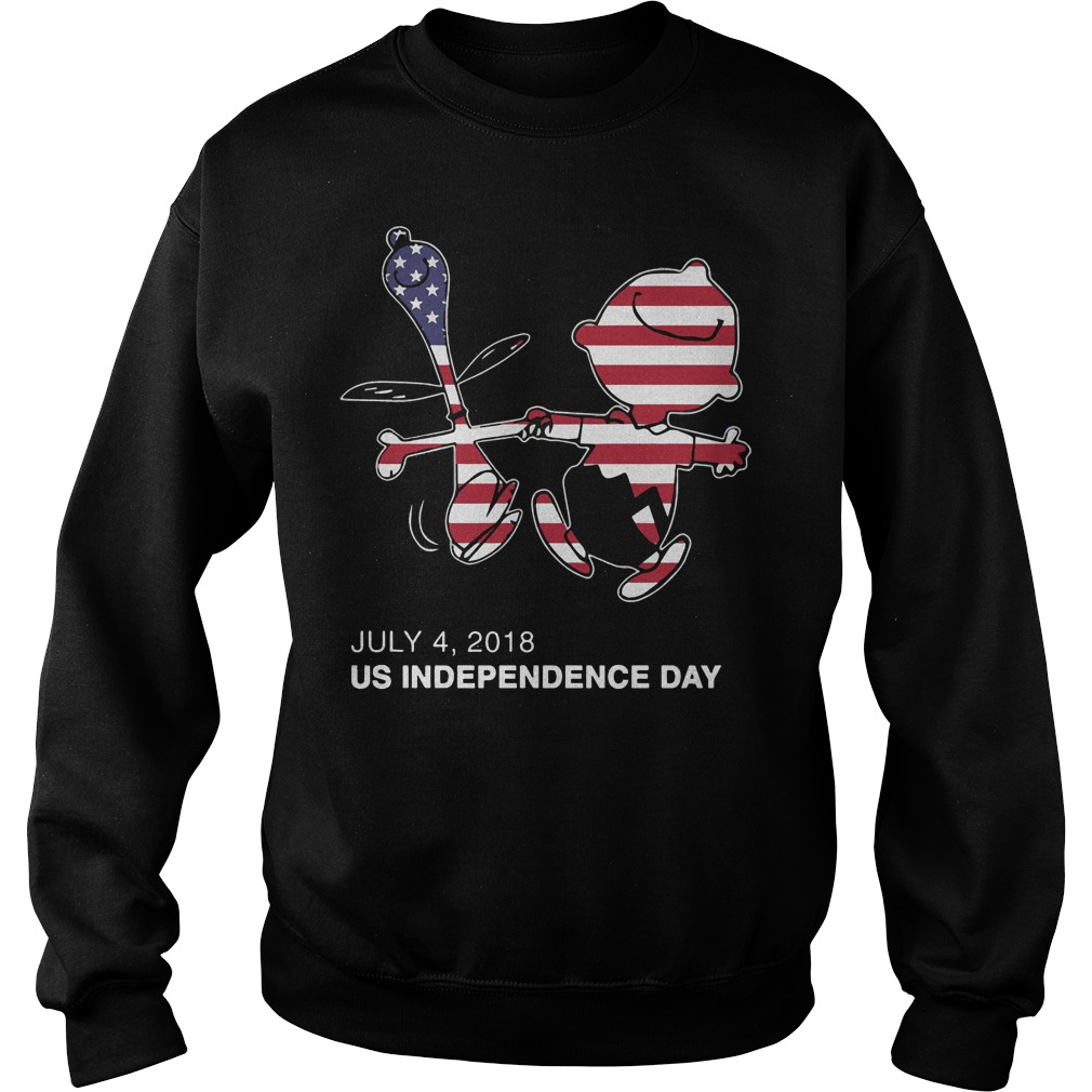 US Independence Day Snoopy and Charlie Brown America Flag Sweater