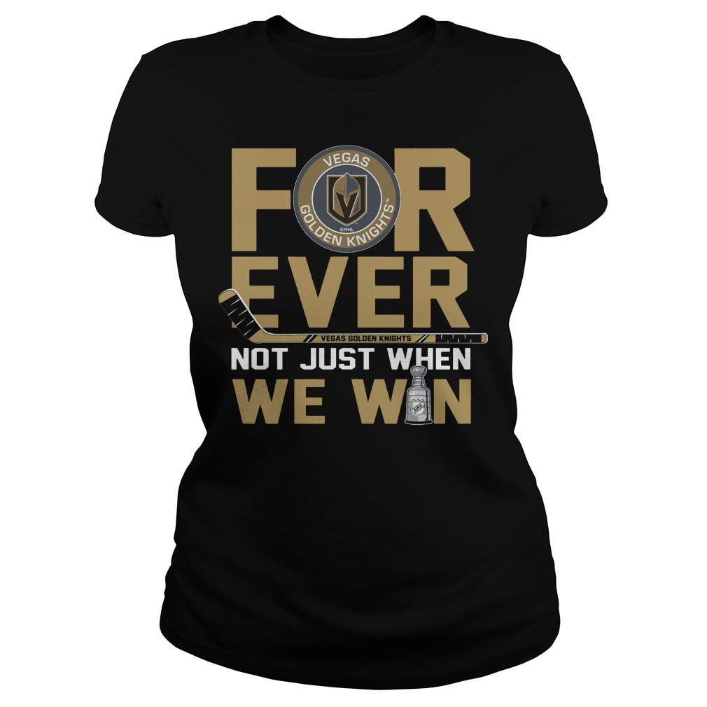Vegas Golden Knights for ever not just when Washington Capitals Ladies tee
