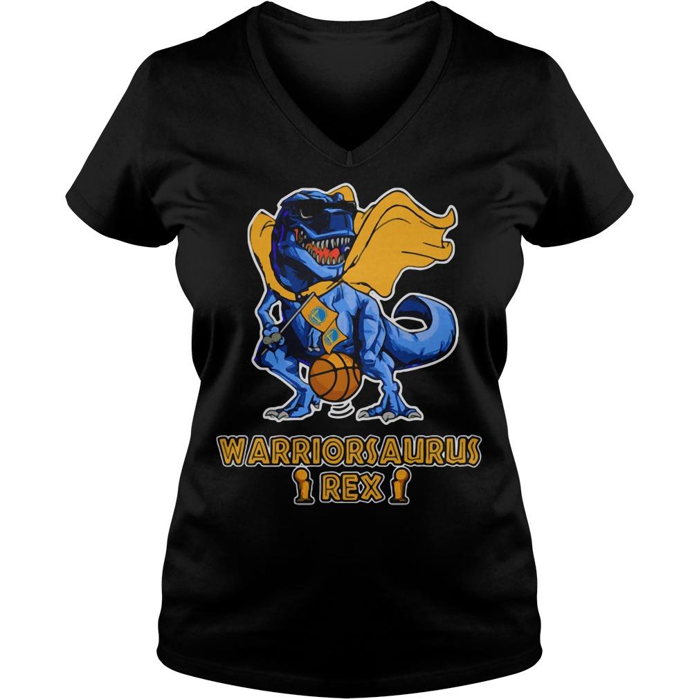 Warriorsaurus Rex Golden State Warriors V-neck t-shirt