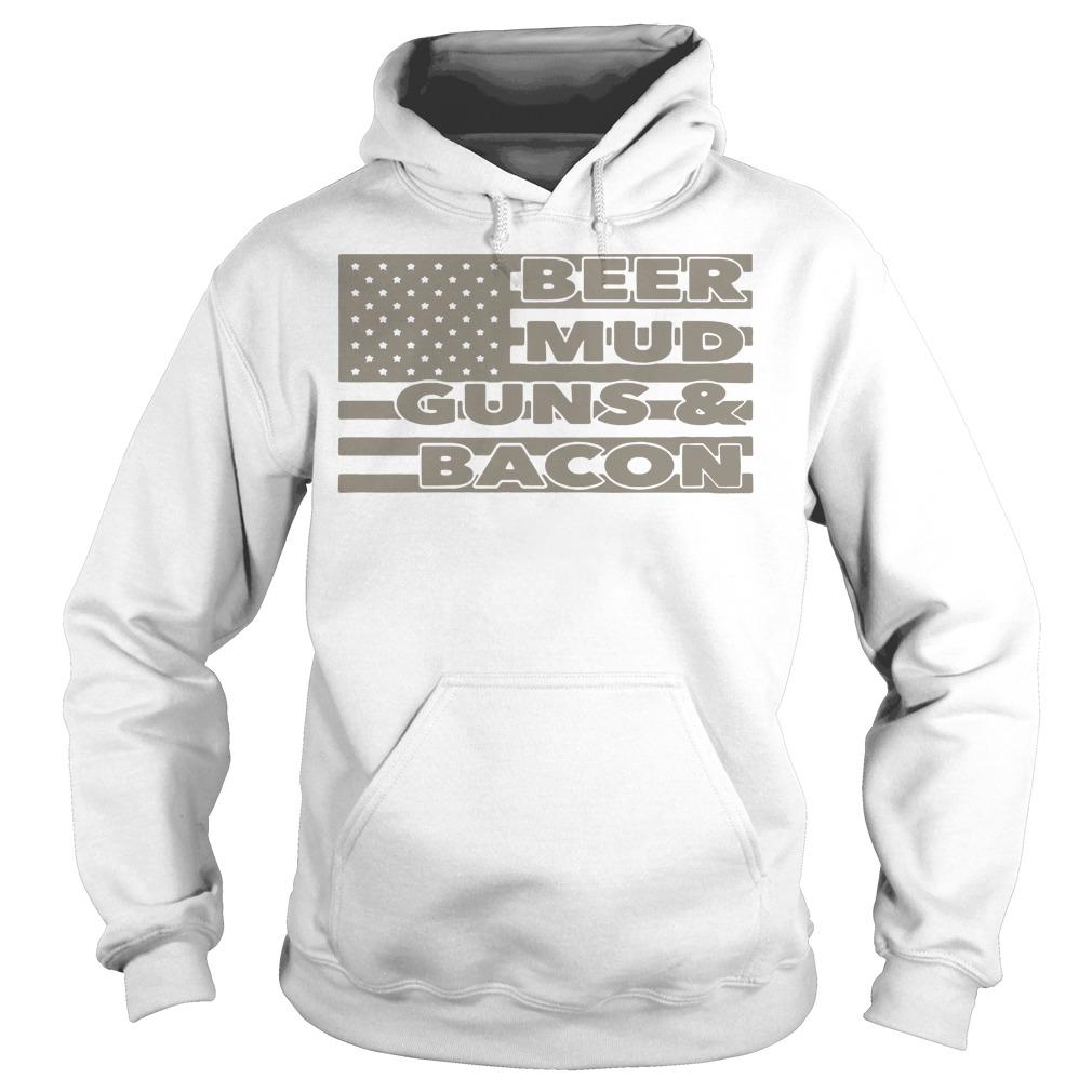 Armed American supply beer mud guns and bacon Hoodie