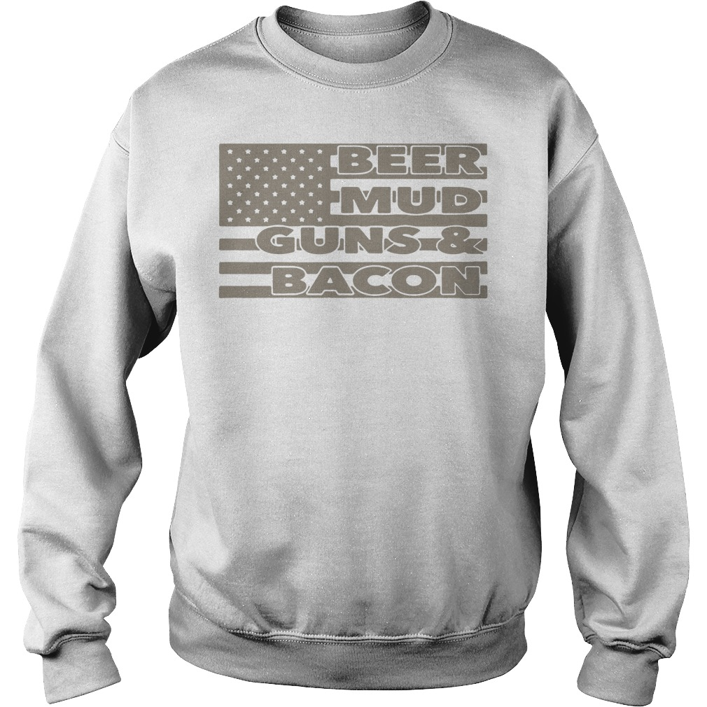 Armed American supply beer mud guns and bacon Sweater