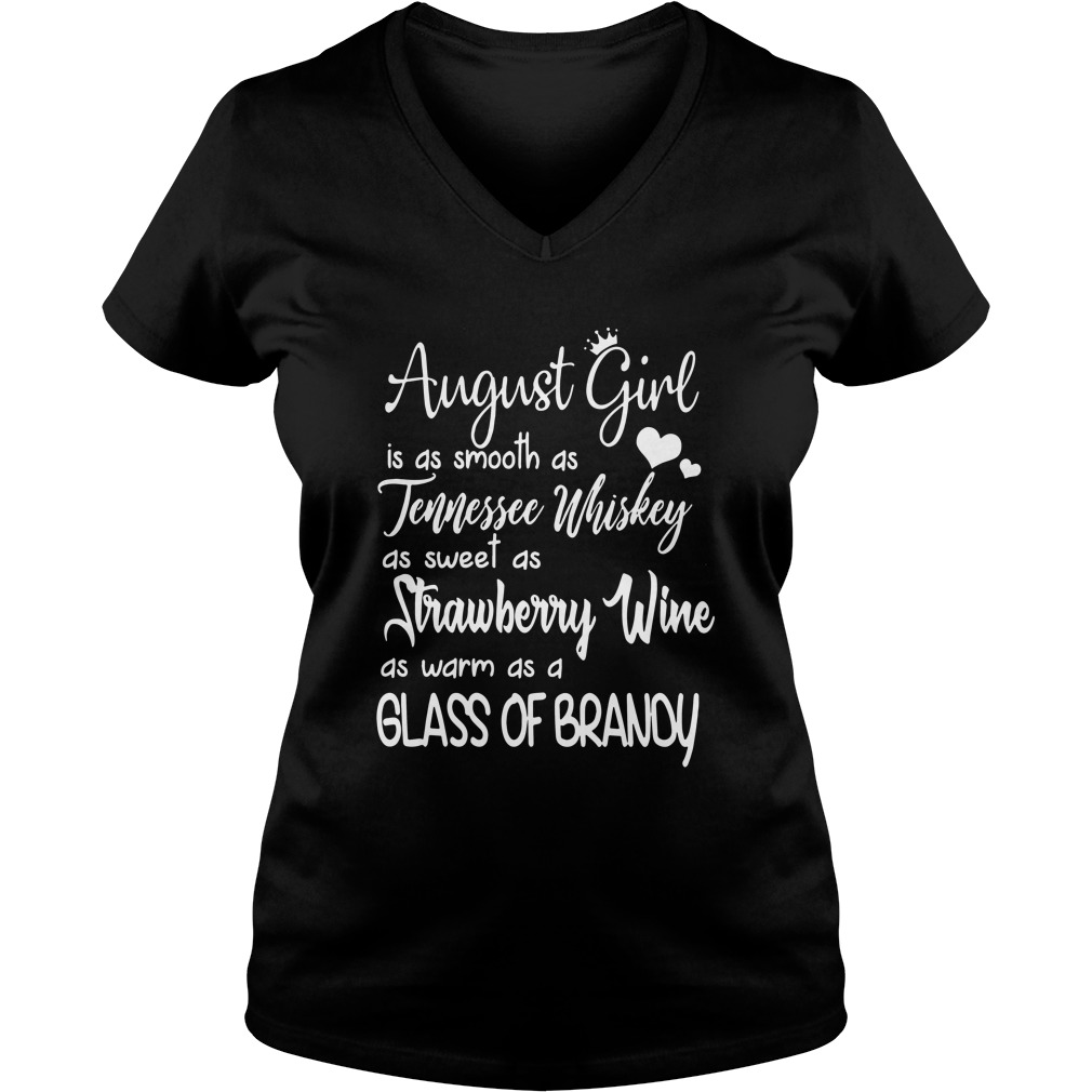 August girl is as smooth as tennessee whiskey V-neck T-shirt