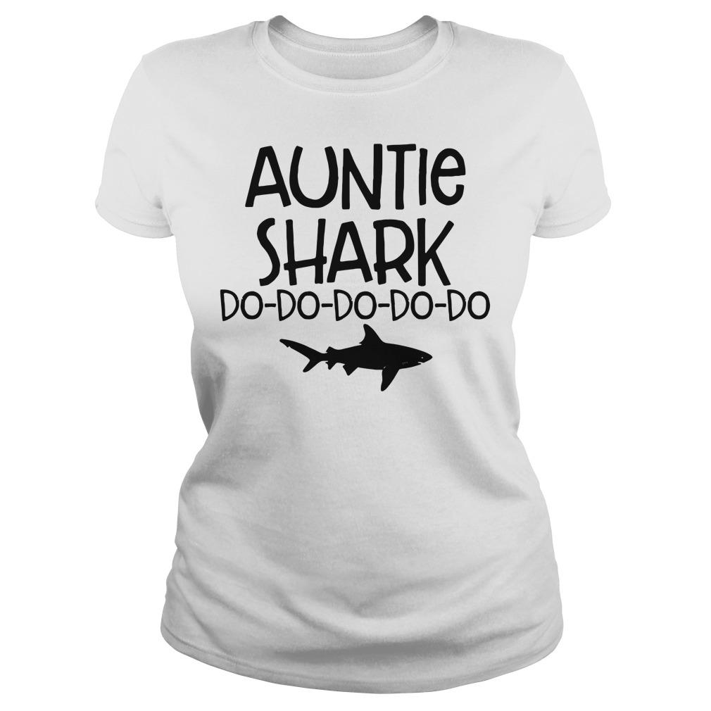 Auntie shark do-do-do-do-do Ladies tee
