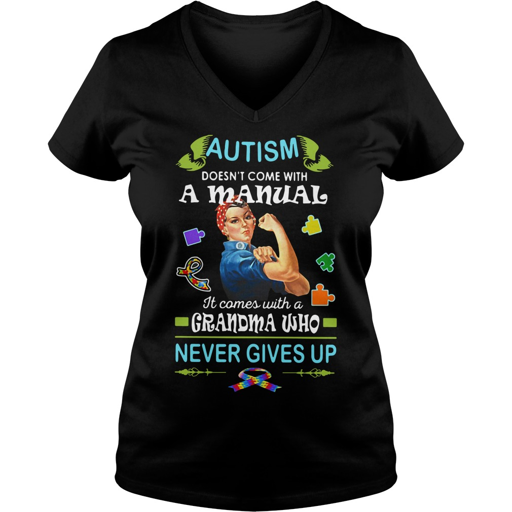 Autism doesn't come with a manual it comes V-neck T-shirt