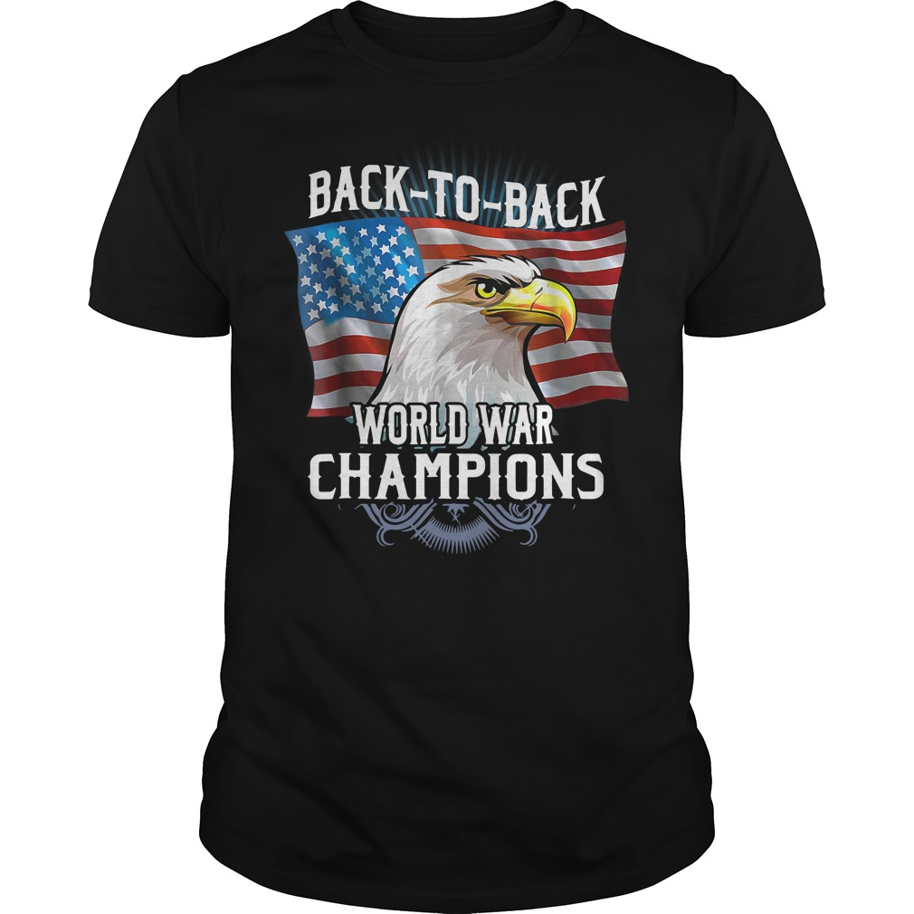 Back to Back World War Champions US Flag shirt