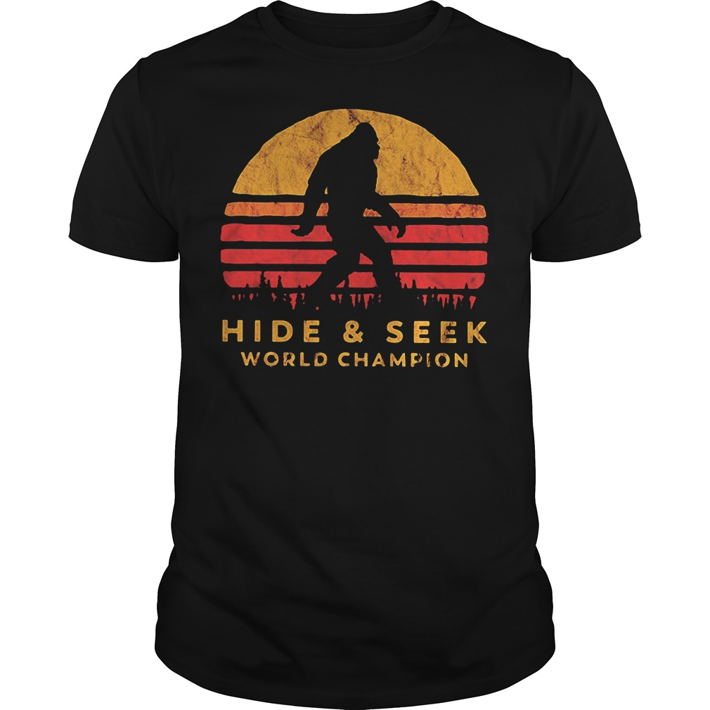 Bigfoot Hide and Seek world champion Guys shirt