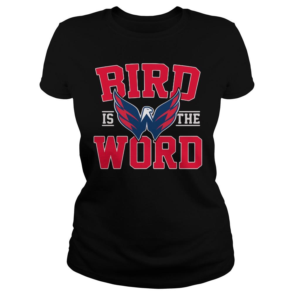 Bird is the word Washington Capitals Ladies tee