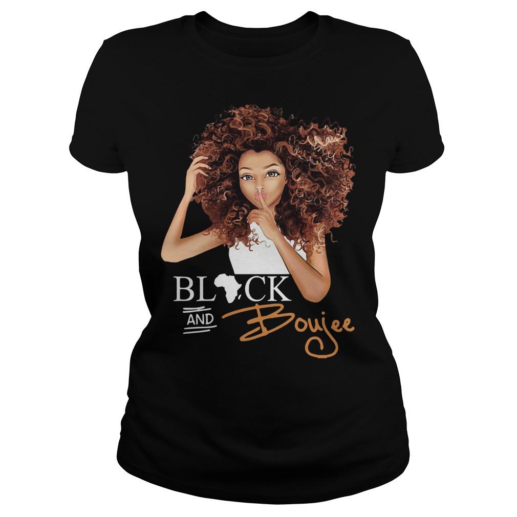 Black and Boujee Ladies tee