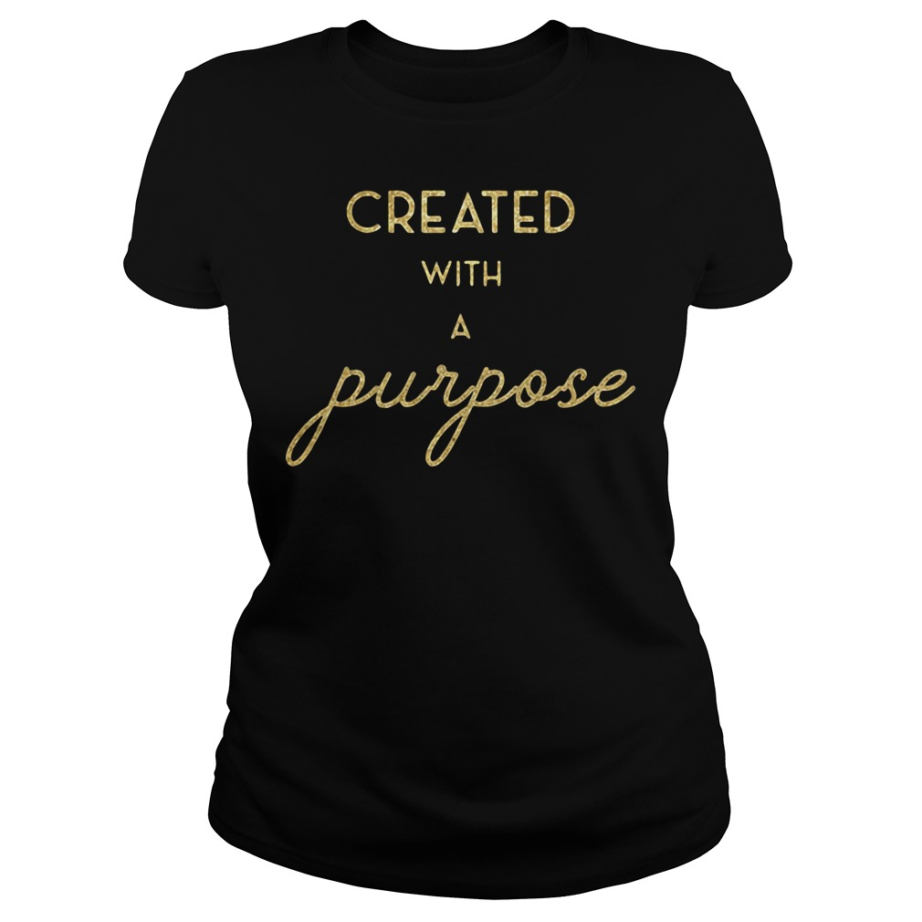 Created with a Purpose Ladies tee