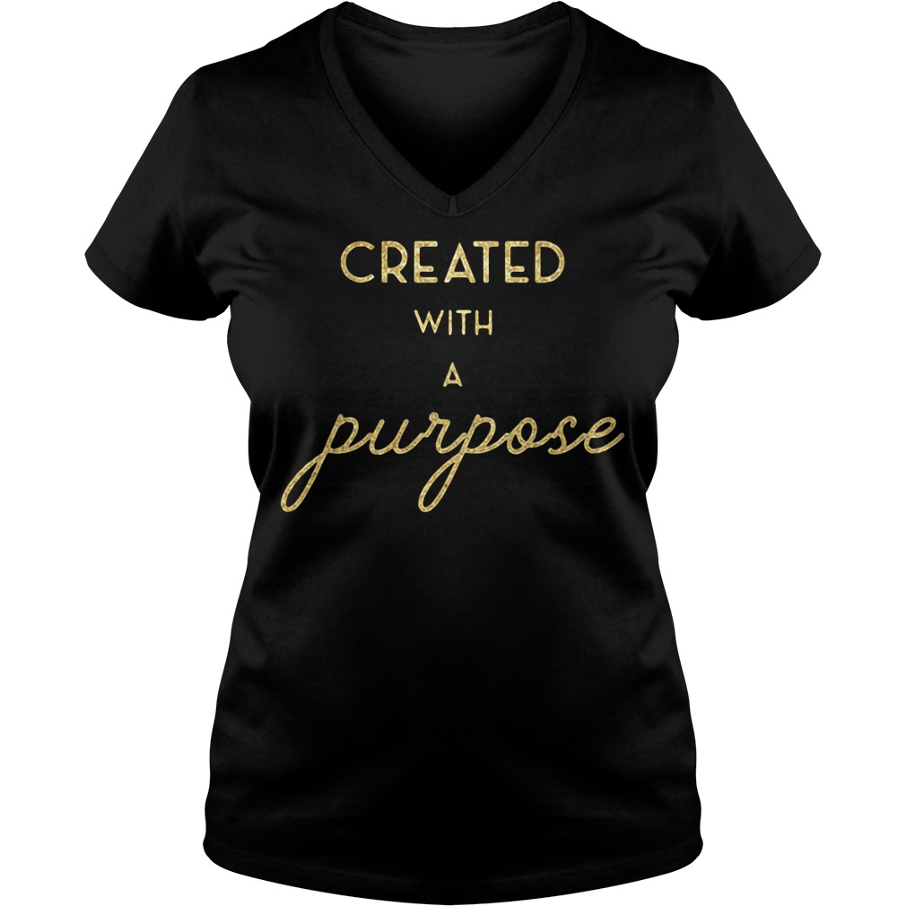 Created with a Purpose V-neck t-shirt