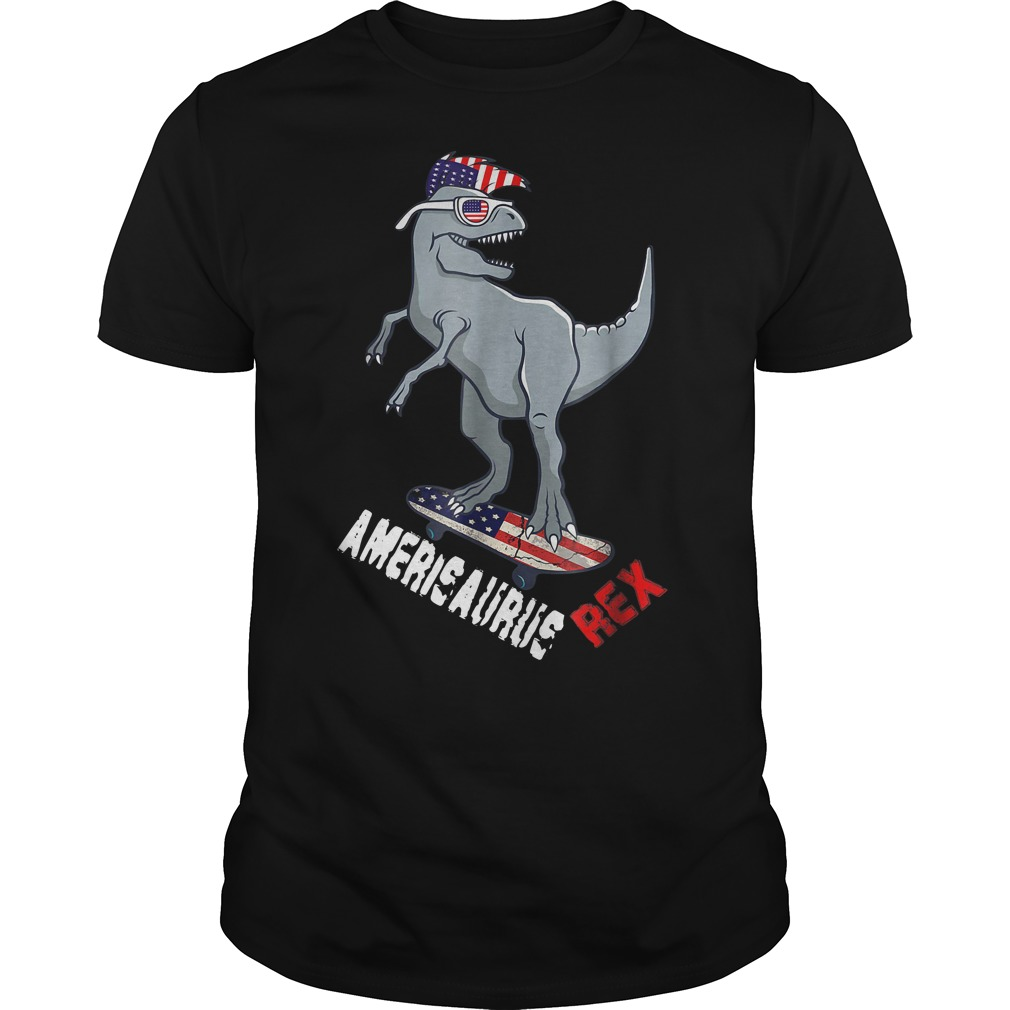 Dinosaur 4th of July Amerisaurus T-Rex Independence Day shirt