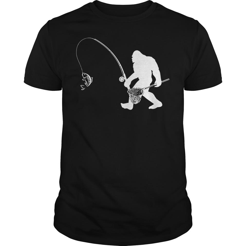 Funny Bigfoot fishing Guys shirt