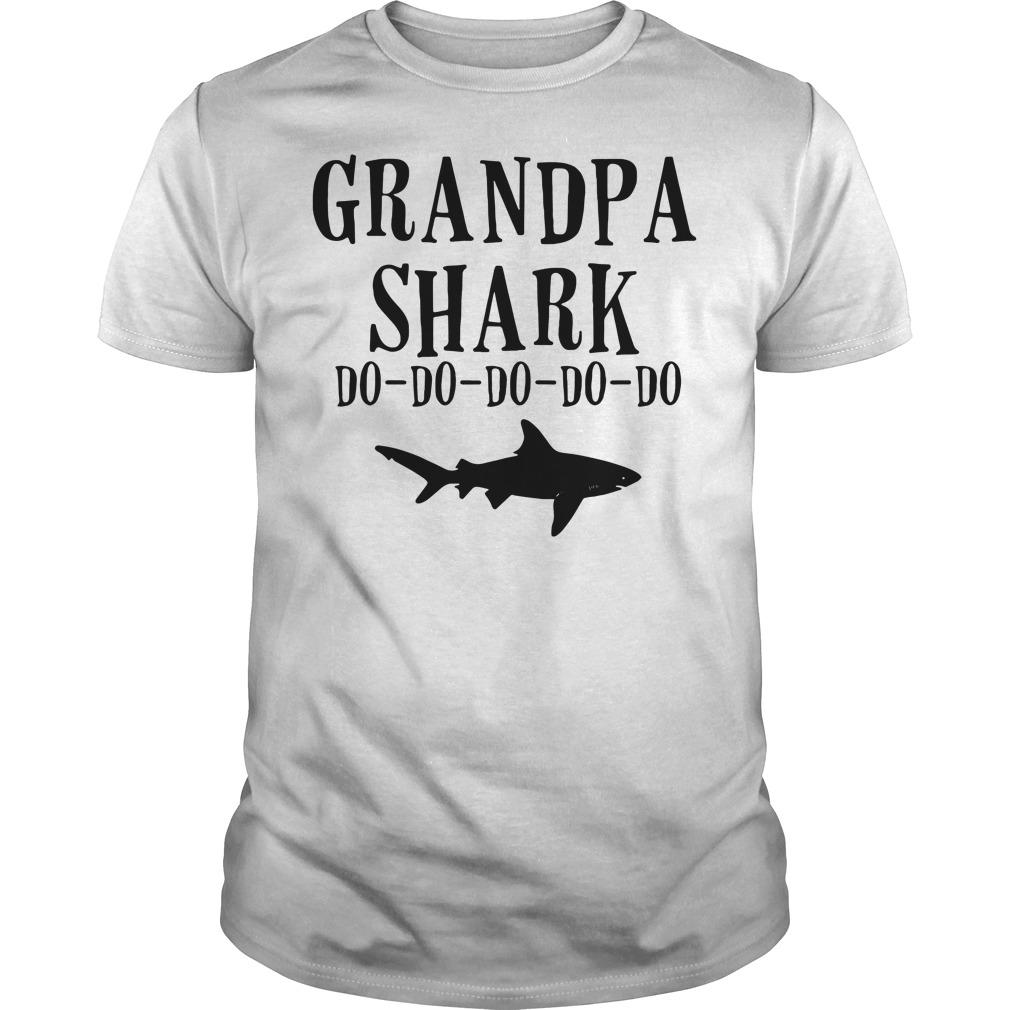 Grandpa shark do-do-do-do-do Guys shirt