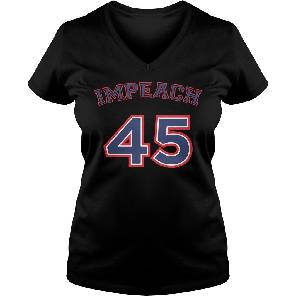 Impeach 45 Not my president Anti Trump V-neck t-shirt