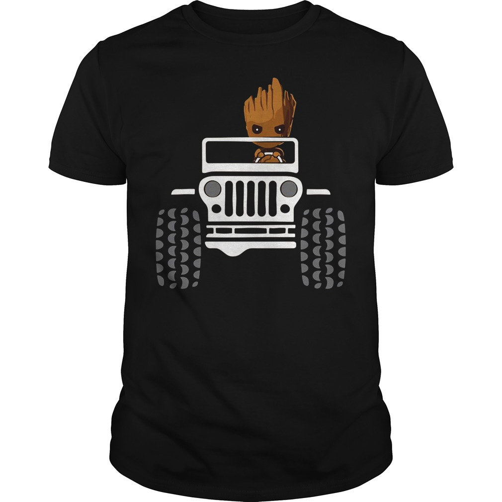 Jeep car I am groot Guys shirt