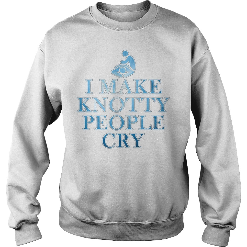 I make knotty people cry Sweater