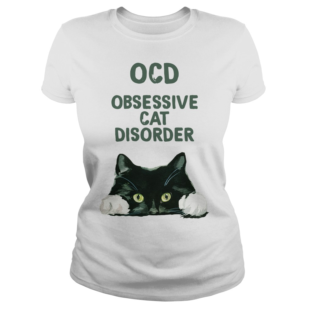 OCD obsessive cat disorder Ladies tee