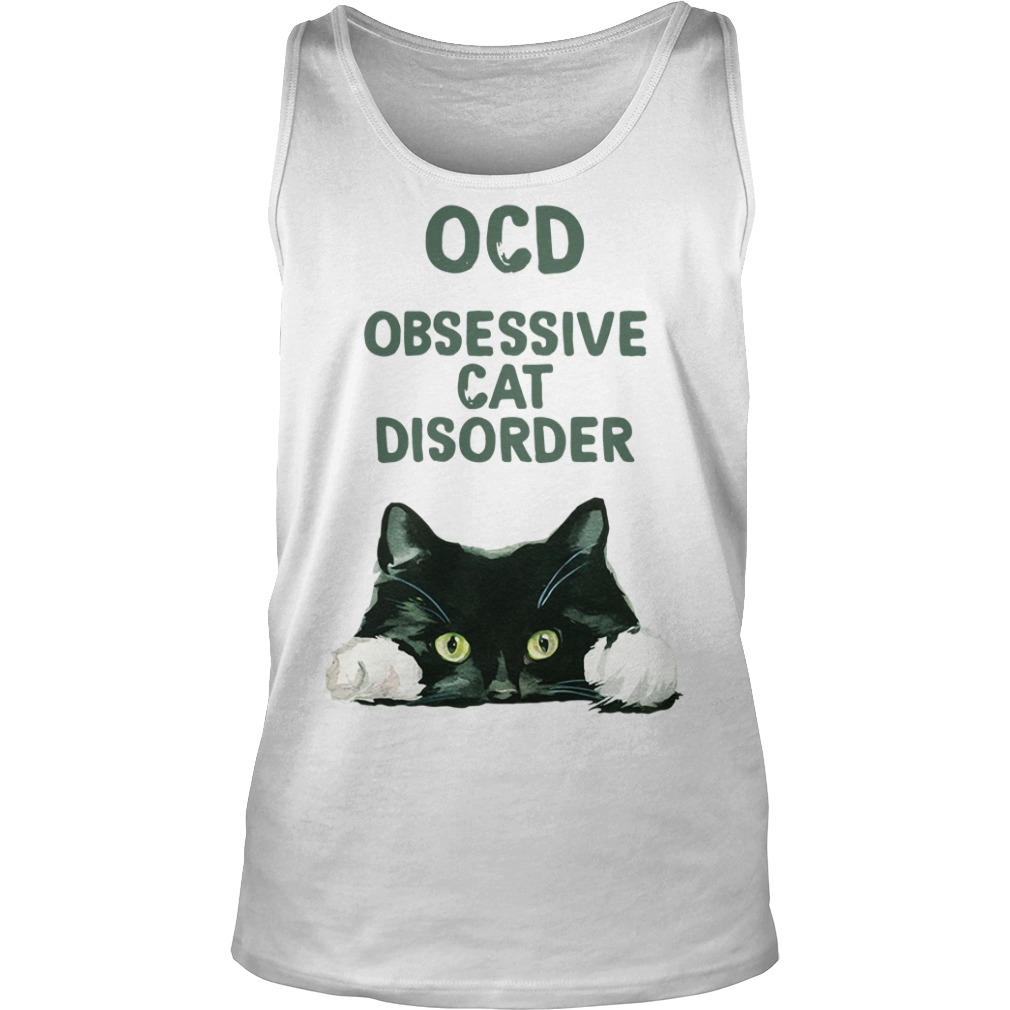 OCD obsessive cat disorder Tank top