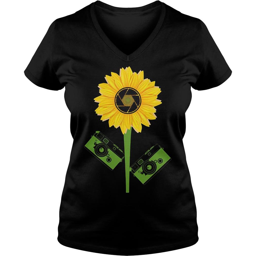 Photography Sunflower V-neck t-shirt