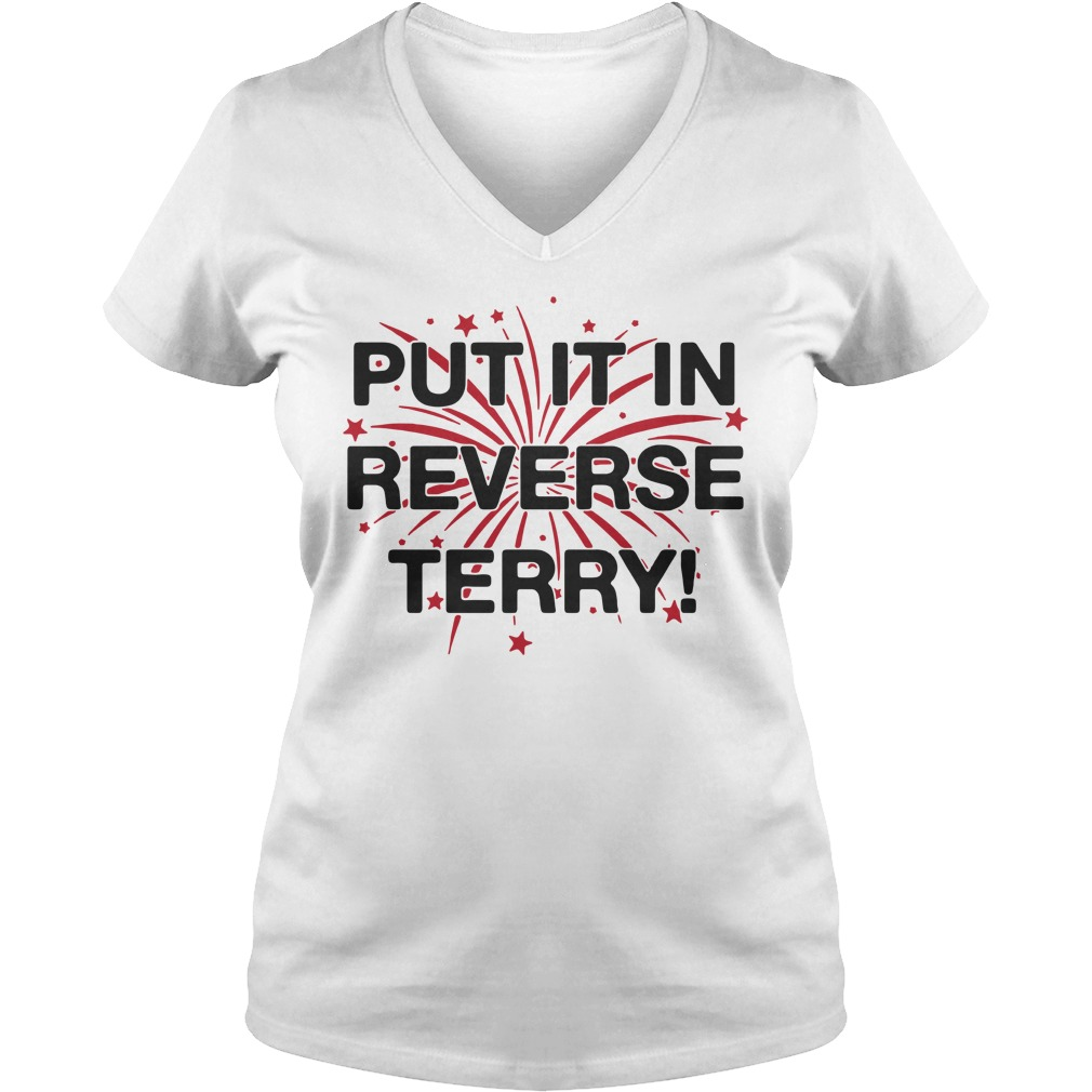 Put it in reverse terry V-neck t-shirt