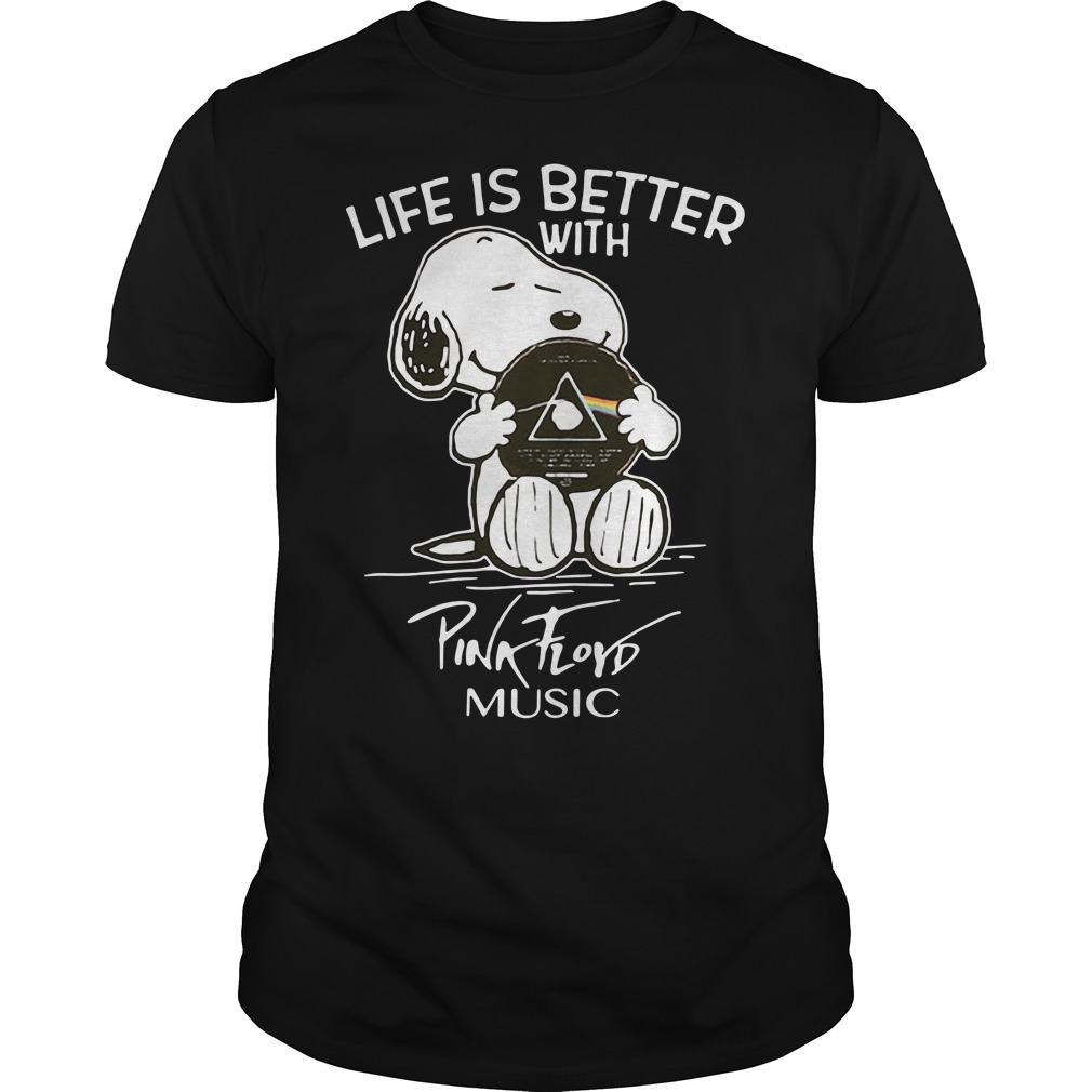 Snoopy life better with Pink Floyd music shirt