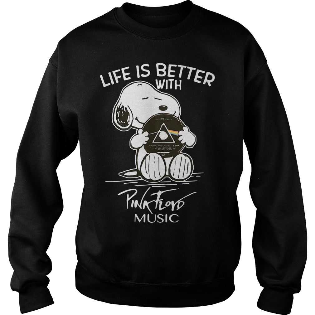 Snoopy life better with Pink Floyd music Sweater