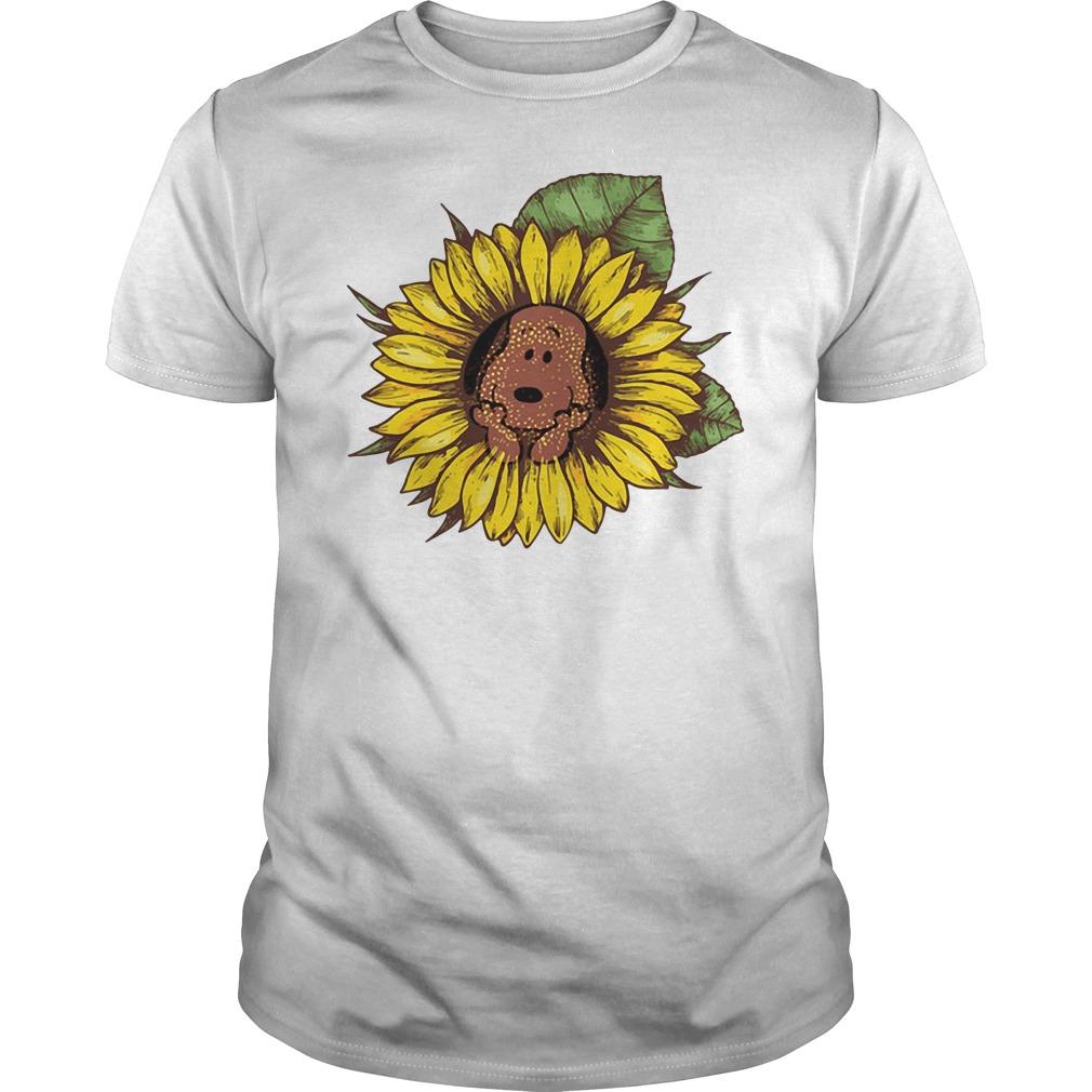 Snoopy sunflower Guys shirt