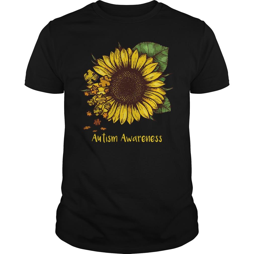 Sunflower autism awareness Guys shirt