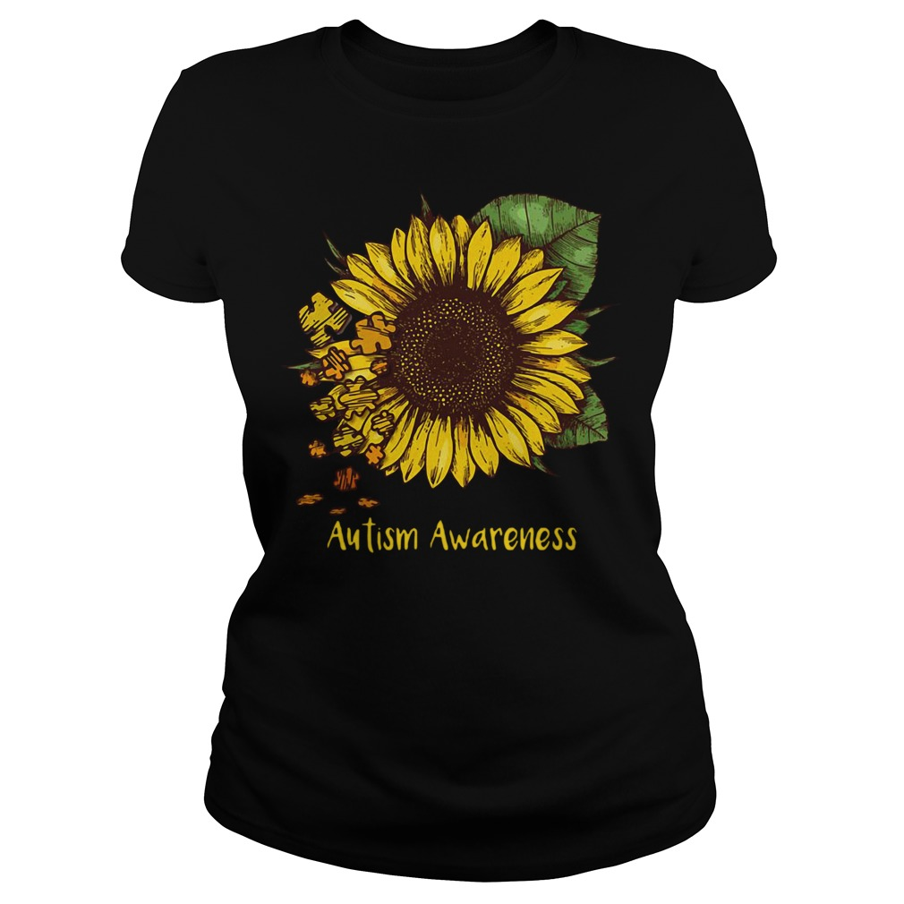 Sunflower autism awareness Ladies tee