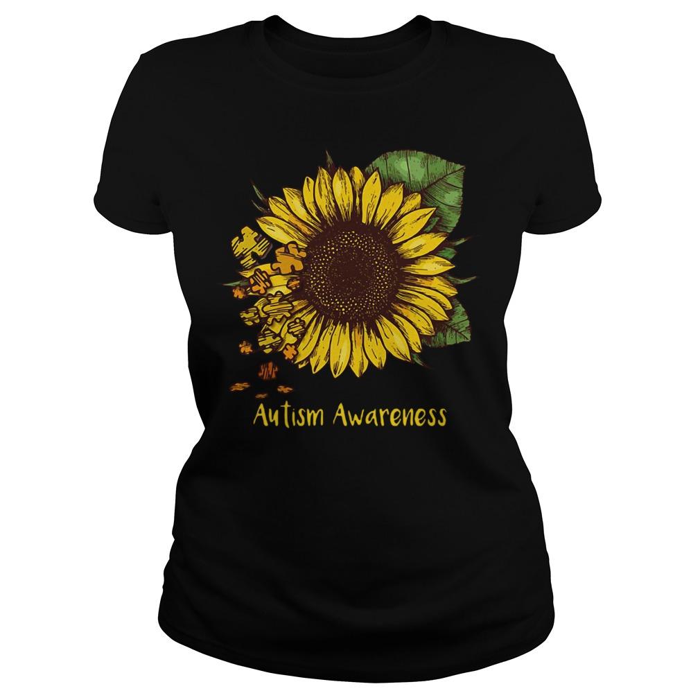 Sunflower autism awareness Ladies tee