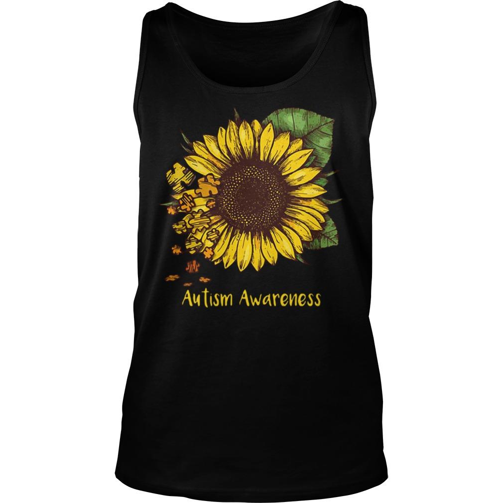 Sunflower autism awareness Tank top