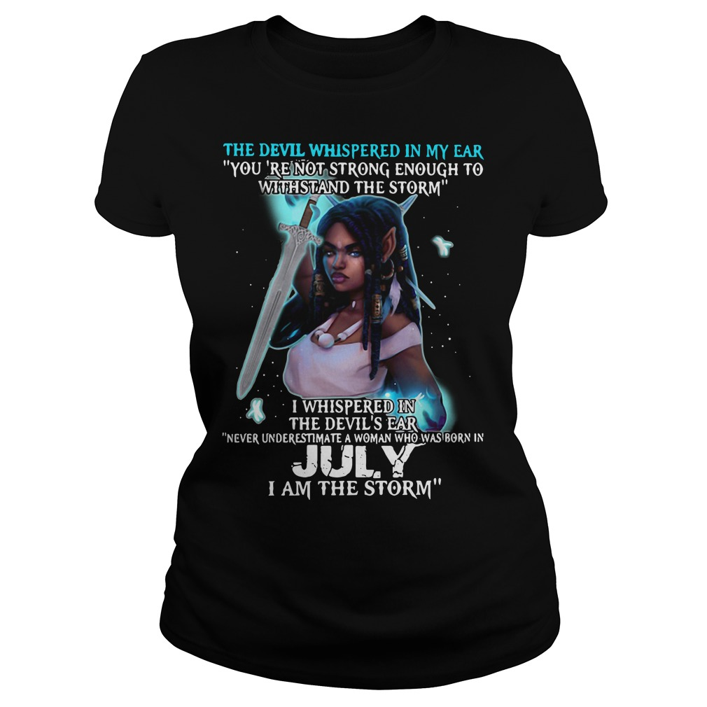 The devil whispered in my ear Ladies tee
