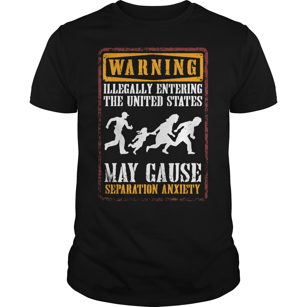 Warning illegally entering the united states Guys shirt