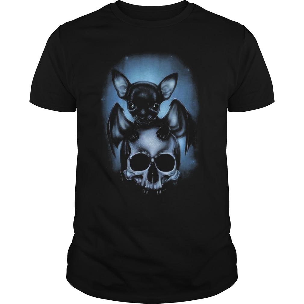 2018 Bat Chihuahua and skull Guys shirt