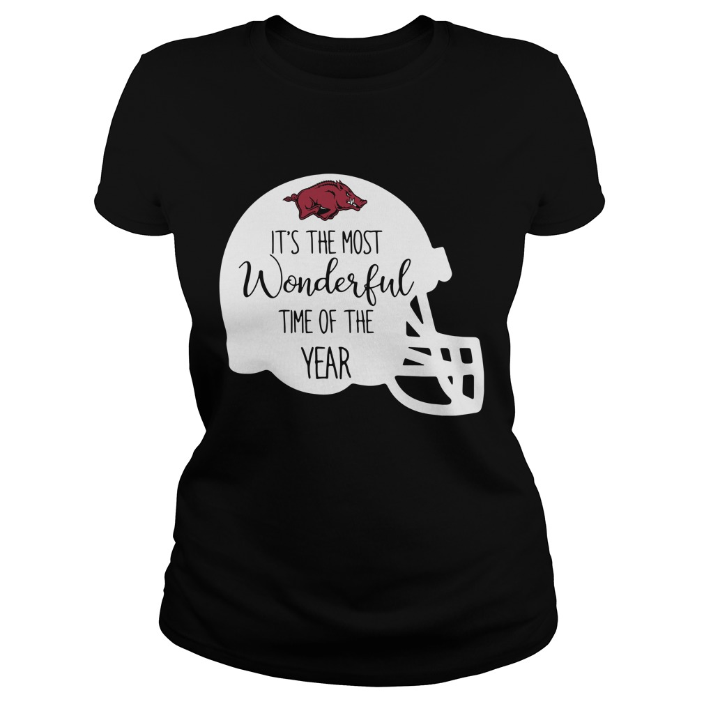 Arkansas Razorbacks it's the most wonderful time of the year Ladies tee