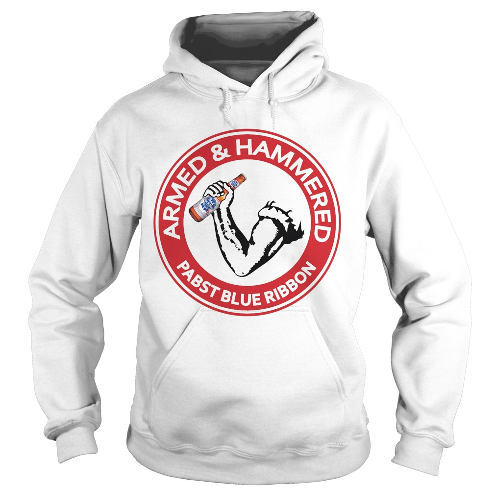 Armed and Hammered Pabst Blue Ribbon Hoodie