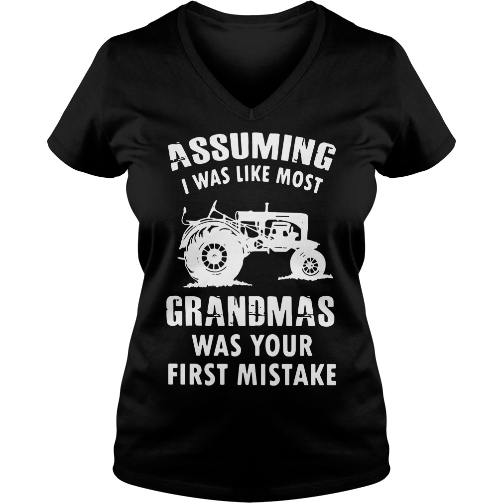 Assuming i was like most grandmas was your first mistake V-neck T-shirt