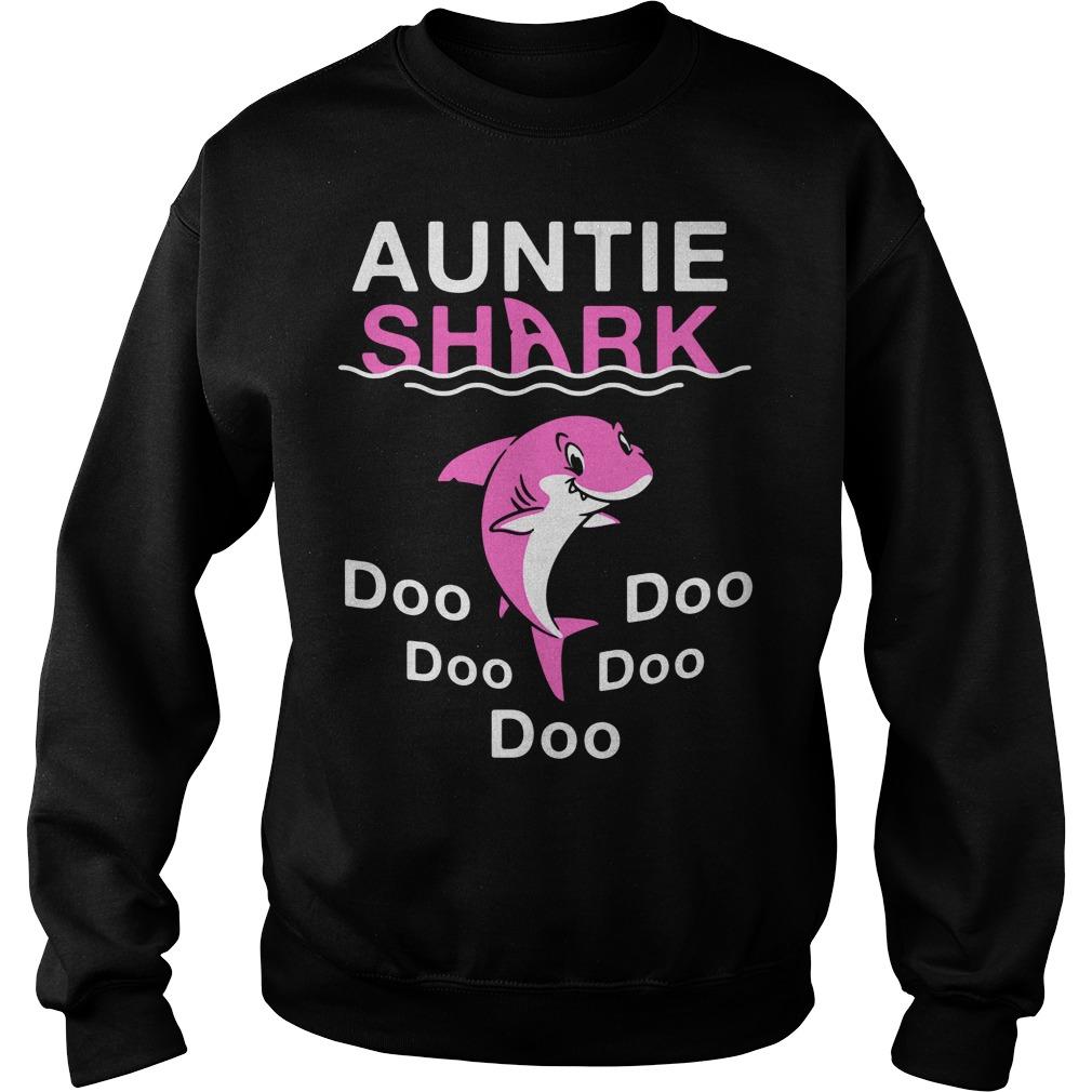 Auntie shark do-do-do-do-do Sweater