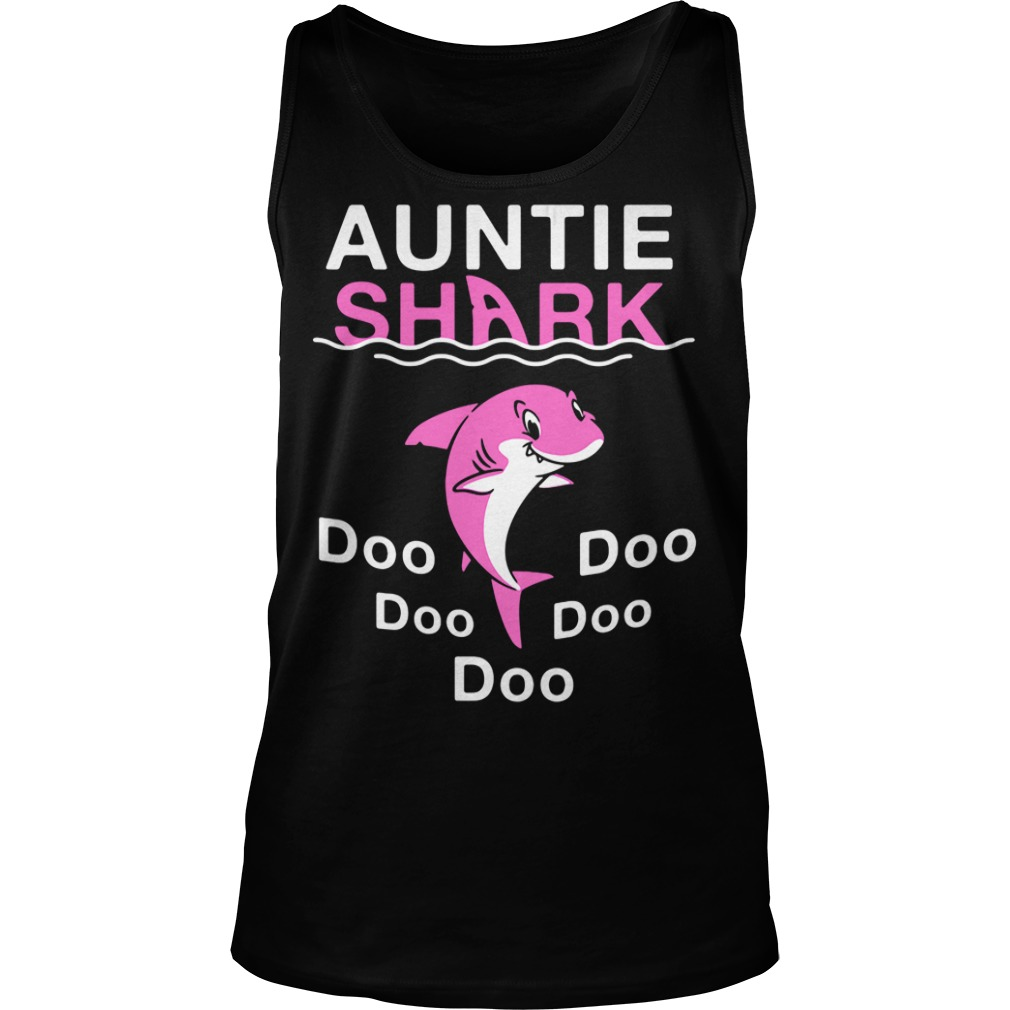 Auntie shark do-do-do-do-do Tank top