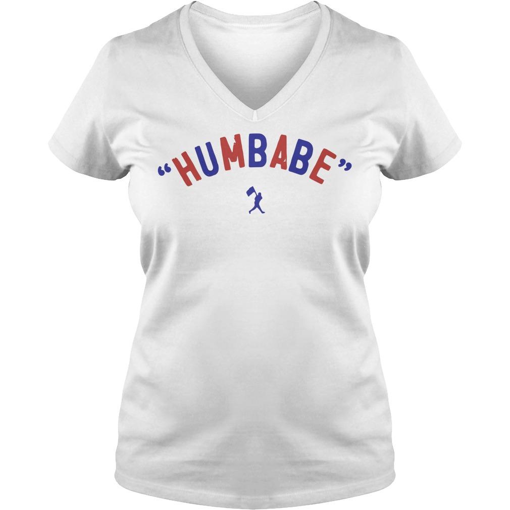Baseball humbabe V-neck T-shirt
