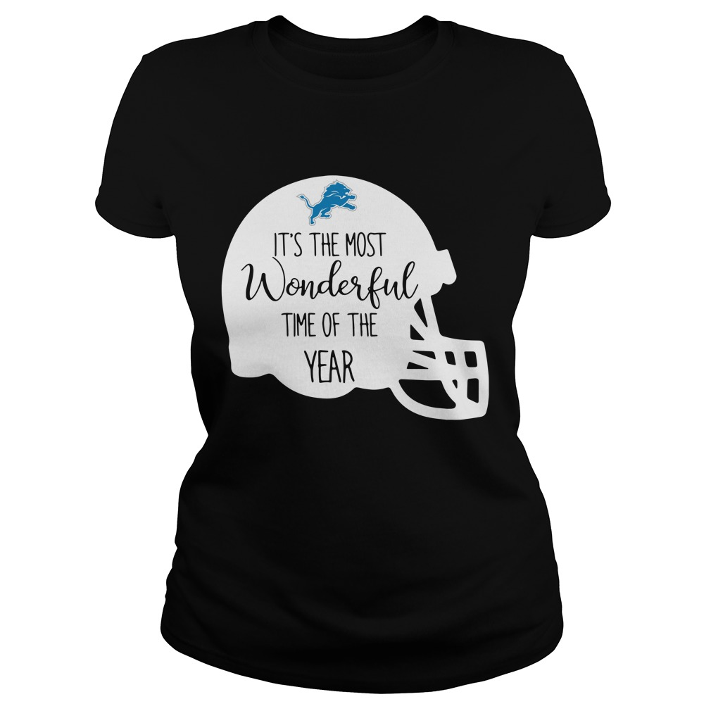 Detroit Lions it's the most wonderful time of the year Ladies tee