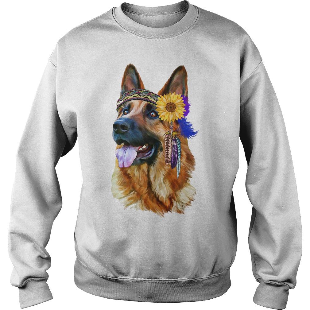 German Shepherd Flower Sweater