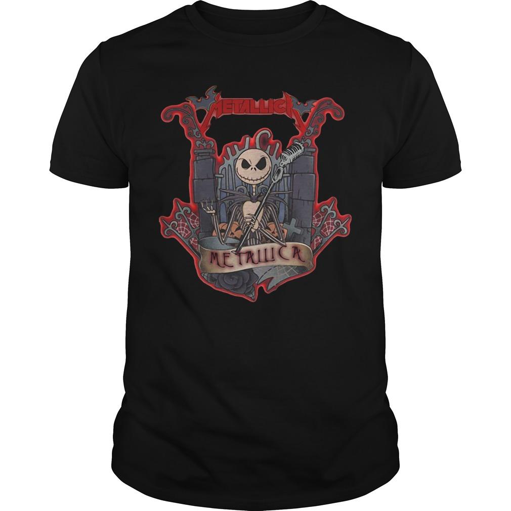 Halloween Jack Skellington metallica Guys shirt