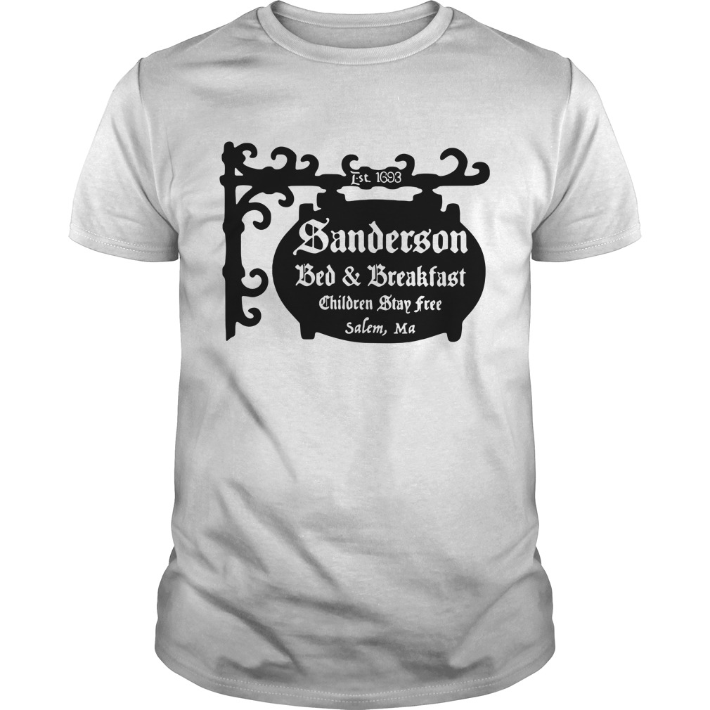 Halloween Sanderson bed and breakfast children stay free salem Guys shirt