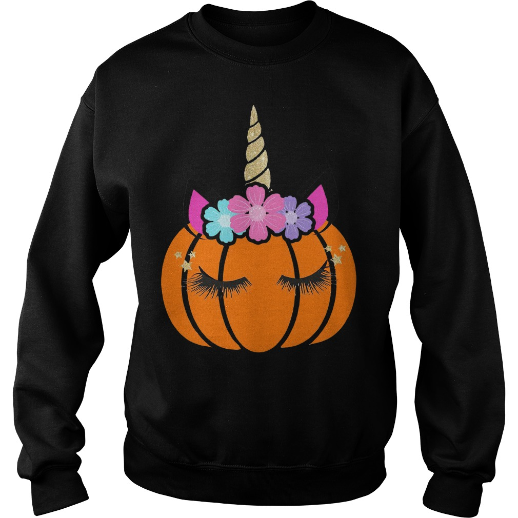Halloween unicorn pumpkin Sweater